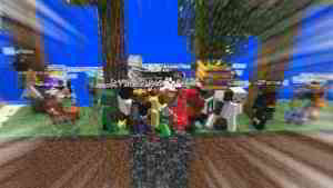 Minecraft but I trapped 100 players in an ant farm...