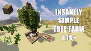 INSANELY simple AFK TREE farm Minecraft 1.14.4