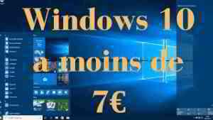 Acheter Windows 10 Officiel pas cher à moins de 7€ | Clé d'activation + téléchargement