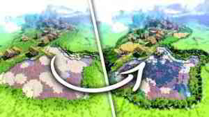 Transformer un Village Minecraft en Base !