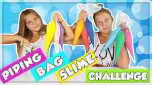 PIPING BAG SLIME CHALLENGE!!! en français
