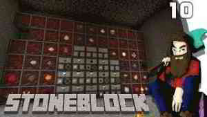 [Minecraft] STONEBLOCK #10 - Stockage pour les ressources de Roost.