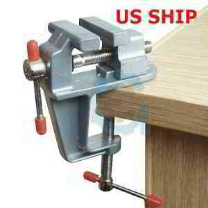 Bench Vise with Anvil Swivel Locking Base Table Top Press Locking Swivel Base US | eBay