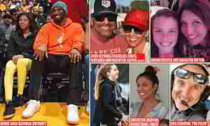 Pictured: All 9 victims of helicopter crash that killed Kobe Bryant