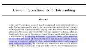 """Joshua Loftus (defundNYPD.com) on Twitter: """"New #algorithmicfairness #fairAI paper with Ke Yang and @stoyanoj We propose causal models with multiple sensitive attributes as a formal approach to intersectionality, and apply the framework to fair ranking tasks Preprint: https://t.co/BRbLBRGHB8 https://t.co/IIwCzHtaGH"""" / Twitter"""