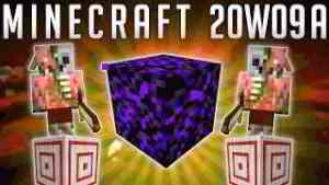 Minecraft Snapshot 20w09a : Obsidienne qui Pleure ! Bloc de Cible