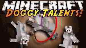 Doggy Talents Mod 1.15.2/1.14.4 (Pet Doggy Training) - 9Minecraft.Net
