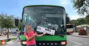 You can go straight to Hel, Poland by taking the 666 bus