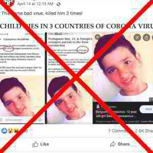 Media Didn't Misuse Boy's Photo in Deaths of Three COVID-19 Victims