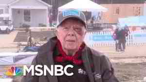 Despite A Black Eye And 14 Stitches, 95-Year-Old Jimmy Carter Builds Homes For Habitat For Humanity
