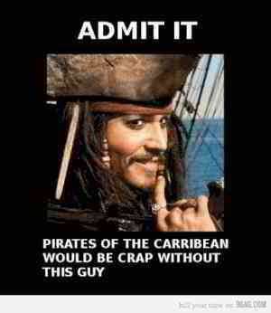 Who can imagine Pirates of the Caribbean without Johnny Depp as Captain Jack Sparrow?
