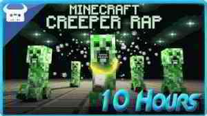 MINECRAFT CREEPER RAP   Dan Bull  (10 Hours)