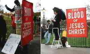 Christian banned from displaying banner proclaiming his beliefs