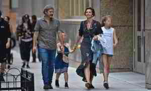 Maggie Gyllenhaal and husband Peter Sarsgaard take daughters out