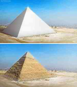 This is what the great pyramid of giza (cheops) must have looked like... 11/10 would rebuild.