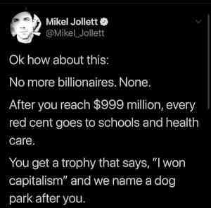 No more billionaires.