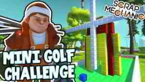 Scrap Mechanic! - MINI GOLF CHALLENGE! Vs AshDubh - [#31]   Gameplay  