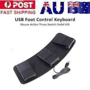 Plastic USB Triple Foot Switch Pedal Control Action Keyboard Mouse Nonslip B6W6 | eBay