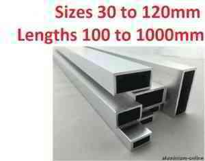 ALUMINIUM RECTANGULAR BOX SECTION 30mm 35mm 40mm 50mm 60mm 120mm 200mm | eBay