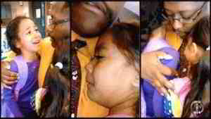 Father Holds Crying Daughters That Dont Want To Go Home With Alleged Abusive Mother