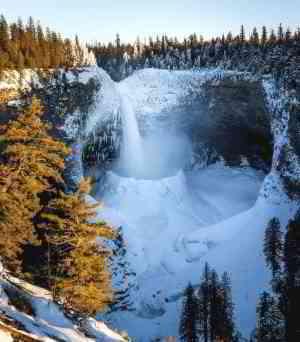 Waterfall snow cone