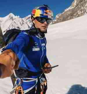 Polish Ski-Mountaineer Andrzej Bargiel, is the first person to climb, and solo ski down from the Summit of K2, the worlds second highest mountain.