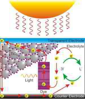 Cellule photoélectrochimique dioxyde de titane