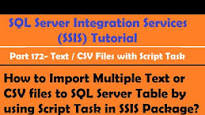 Automate csv to sql