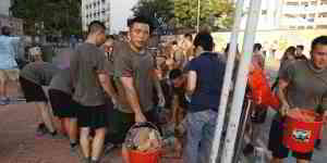 Mainland Chinese Soldiers Take to Hong Kong Streets for First Time During Protests