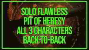 Solo Flawless Pit of Heresy, All 3 Characters Back-to-Back At Once | Destiny 2