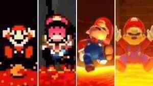 Evolution of Mario Falling in Lava (1985-2019)