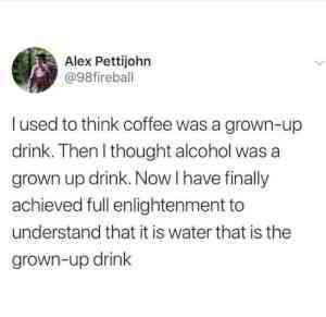 Grown up drink