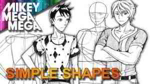 How To Draw MALE ANIME MANGA CHARACTERS From BASIC SHAPES