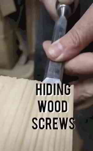 How to hide screws