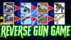 Reverse GUN GAME Trials Challenge (The most painful challenge ft. MpEdits & ZkMushroom)